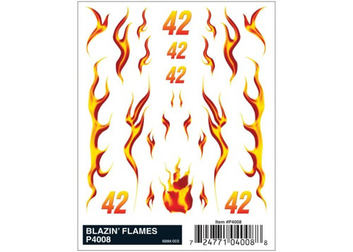 Woodland Scenics 4008 PineCar(R) Dry Transfer Decals -- Blazin' Flames A Scale