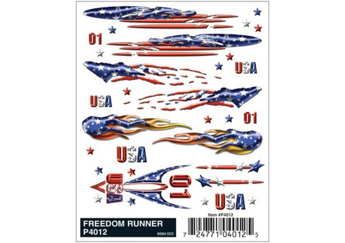 Woodland Scenics 4012 PineCar(R) Dry Transfer Decals -- Freedom Runner A Scale