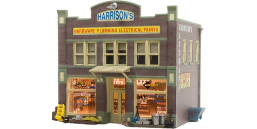"Woodland Scenics 4921 Harrison's Hardware - Built & Ready(R) Landmark Structures(R) -- Assembled - 2-1/2 x 1-31/32""  6.35 x 5cm N Scale"
