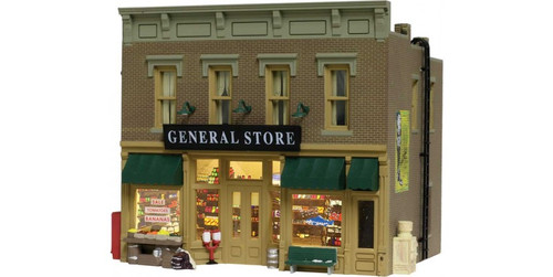 "Woodland Scenics 4925 Luebner's General Store - Built & Ready(R) Landmark Structures(R) -- Assembled - 2-7/16 x 2 x 2-1/4""  6.2 x 5.1 x 5.7cm N Scale"