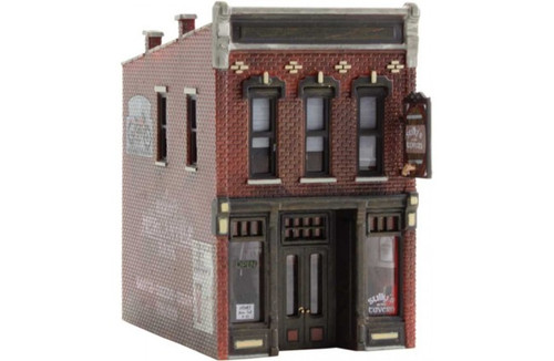 """Woodland Scenics 4940 Built & Ready(R) Landmark Structures(R) - Assembled -- Sully's Tavern 1 1/2 x 2 1/4""""  3.81 x 5.71 cm N Scale"""