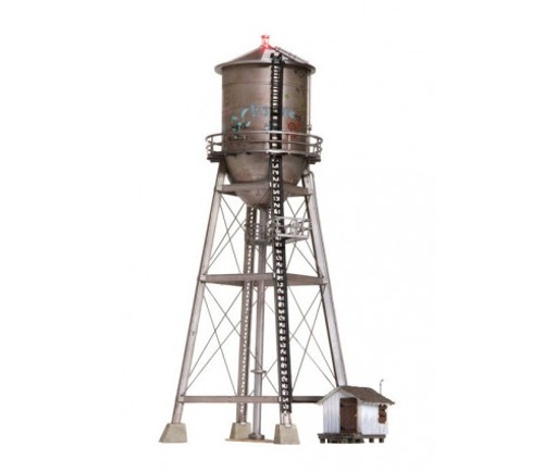 "Woodland Scenics 4954 Rustic Water Tower - Built-&-Ready(R) Landmark Structure -- Assembled  2 1/8 x 2 17/32 x 5 1/2""  5.39 x 6.42 x 13.9 cm N Scale"
