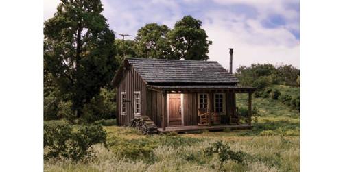 "Woodland Scenics 4955 Rustic Cabin - Built-&-Ready(R) Landmark Structure(R) -- Assembled - 1-13/16 x 1-3/4 x 1-1/2""  4.6 x 4.44 x 3.81cm N Scale"