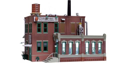 "Woodland Scenics 5026 Clyde & Dale's Barrel Factory - Built-&-Ready Landmark Structures(R) -- Assembled - 6-5/8 x 5-11/16""  16.8 x 14.4cm HO Scale"