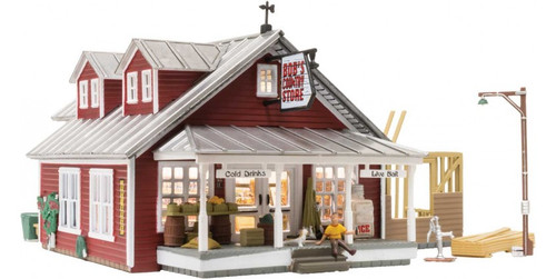 "Woodland Scenics 5031 Country Store Expansion - Built-&-Ready Landmark Structures(R) -- Assembled - 7-1/8 x 6-13/16""  18 x 17.3cm HO Scale"