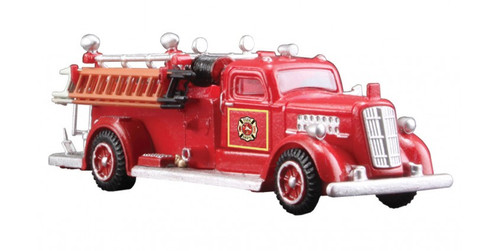 Woodland Scenics 5567 AutoScenes(R) - Assembled -- 1950s Fire Truck (red) HO Scale