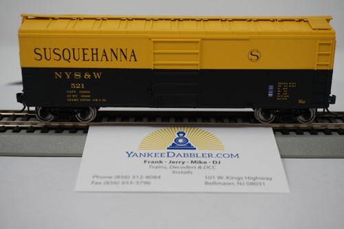 Bowser 42459 NYSW - Susquehanna #523 40' Boxcar HO Scale