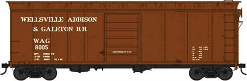 Bowser 42466 WAG - Wellsville Addison & Galeton #8009 40' Boxcar HO Scale