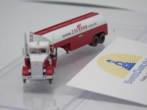 Trainworx 55120 Chevron Supreme Gasoline - Peterbilt 351 Tractor w/32' Tank Trailer - Assembled  (SCALE=N)  PART #744-55120