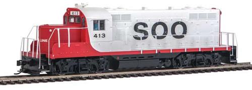 Walthers 20428 EMD GP9 Phase II - SOO - SOO Line #413 - DCC & Sound HO Scale