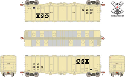 Scaletrains {SXT30679} GATC 4180cf Airslide Covered Hopper CSX #203413 HO Scale