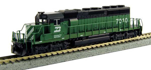 Kato 1764960 EMD SD40-2 Burlington Northern 6792 (Cascade Green, black, white)(Scale=N) Part # 381-1764960