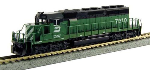 Kato 1764961  EMD SD40-2 Burlington Northern 7036 (Cascade Green, black, white)(Scale=N) Part # 381-1764961