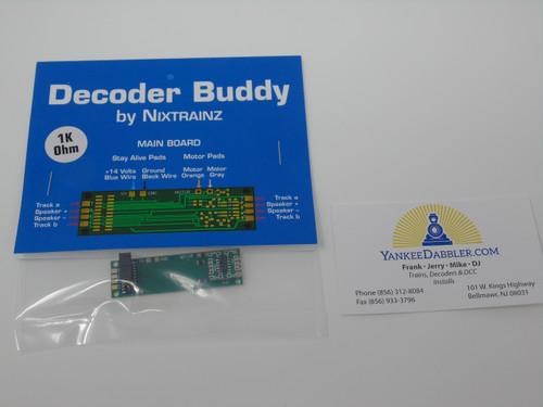 NixTrainz Decoder Buddy 1K Ohm resistor - motherboard for 21 Pin decoders (Scale=HO) #NIX-1KohmDecoderBuddy