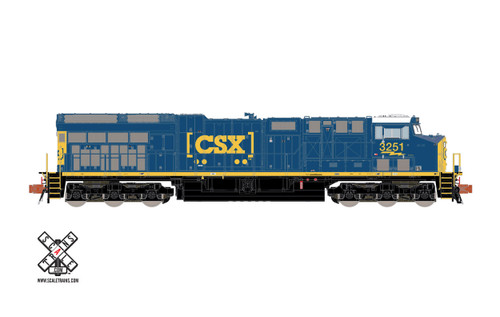 Scaletrains {SXT32032} GE Teir 4 GEVo ET44AH CSX #3360 ESU LokSound DCC & Sound Rivet Counter N Scale