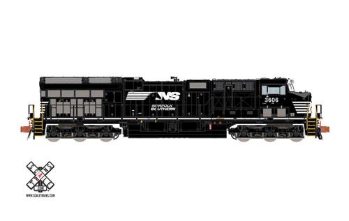 Scaletrains {SXT32059} GE Teir 4 GEVo ET44AC NS - Norfolk Southern #3606 ESU LokSound DCC & Sound Rivet Counter N Scale