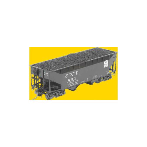 Kadee 7012 50 Ton AAR 2 bay Hopper - C&I  Cambria & Indiana #600 HO Scale