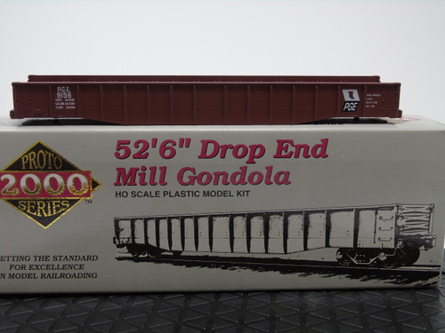 "Proto 2000 84483 52'6"" Drop End Mill Gondola Kit - PGE - Pacific Great Eastern #9156 HO Scale"