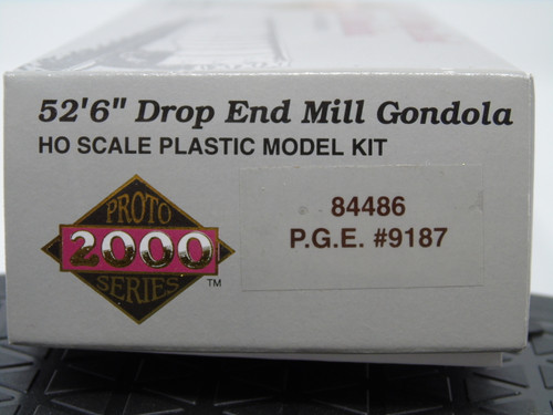 "Proto 2000 84486 52'6"" Drop End Mill Gondola Kit - PGE - Pacific Great Eastern #9187 HO Scale"