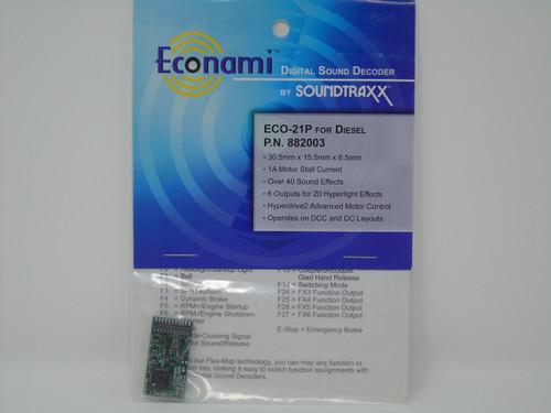 Soundtraxx 882003 Econami ECO-21P Ver 1.0
