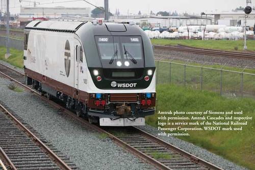 Bachmann 67904 SC-44 Charger Amtrak (Cascades WSDOT) #1400 TCS WOW Sound HO Scale