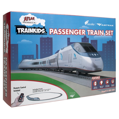 Atlas 15000000 Trainkids Passenger Train Set + free Trainkids Coloring Background HO Scale