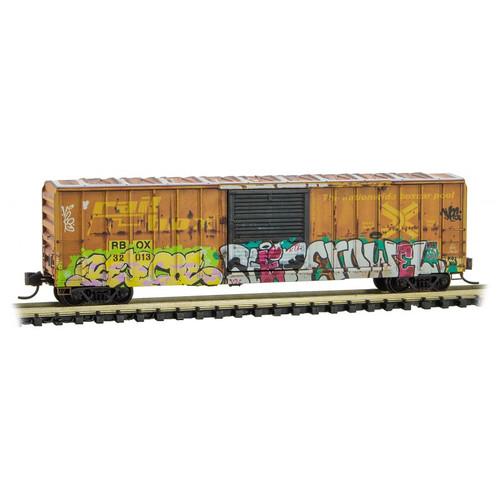 Micro-Trains 02545014 50' Rib Side Boxcar Railbox Graffiti #32013 N Scale