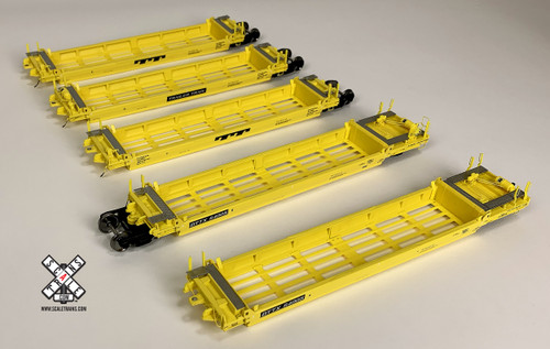 Scaletrains {SXT31803} PS-Trinity Backpacker Well Car Set (5) TT - Trailer Train #64014 HO Scale