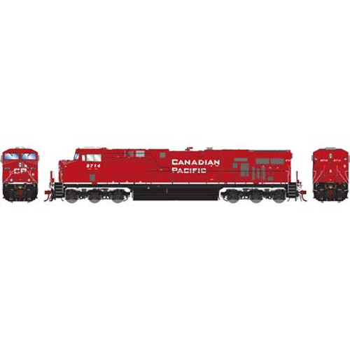 Athearn ATHG83175 GE ES44AC CP - Canadian Pacific - Retrucked #8714 with DCC & Sound Tsunami2  HO Scale
