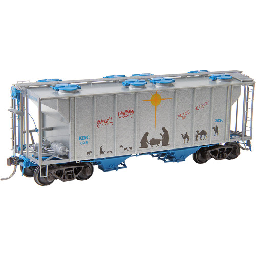 Kadee 6926 PS-2 Covered Hopper - Christmas Car 2020 - HO Scale
