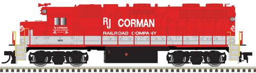 Atlas 10003244 GP38 RJ Corman #3803 Gold DCC & Sound HO Scale