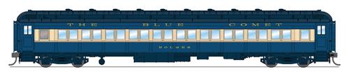 BLI 6438 CNJ 80' Passenger Coach, Blue Comet, Single Car, HO (Fantasy Paint Scheme)  HO Scale
