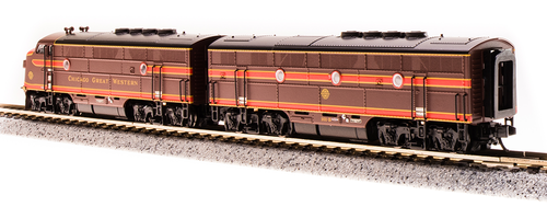 Broadway Limited { 3786 } F3A/B Set  CGW - Chicago Great Western #101A & 101B N Scale