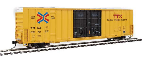 Walthers 910-2971 60' High Cube Plate F Boxcar TTX - TBOX #661229 HO Scale
