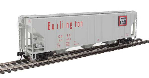 Walthers 910-7464 PS 4427 Covered Hopper CB&Q - Burlington Route #85603 HO Scale