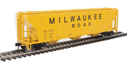 Walthers 910-7468 PS 4427 Covered Hopper MILW - Milwaukee Road #98680 HO Scale