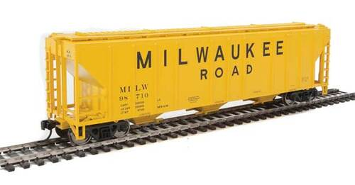 Walthers 910-7469 PS 4427 Covered Hopper MILW - Milwaukee Road #98710 HO Scale
