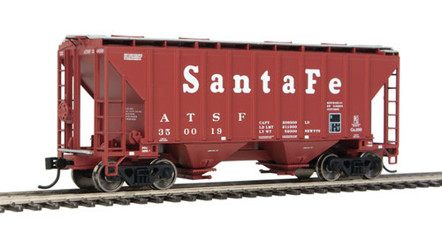 Walthers 910-7950 37' Covered Hopper ATSF - Santa Fe #350019 HO Scale
