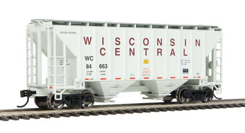 Walthers 910-7970 37' Covered Hopper WC - Wisconsin Central #84663 HO Scale