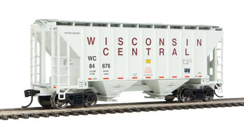 Walthers 910-7971 37' Covered Hopper WC - Wisconsin Central #84676 HO Scale