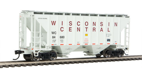 Walthers 910-7972 37' Covered Hopper WC - Wisconsin Central #84680 HO Scale