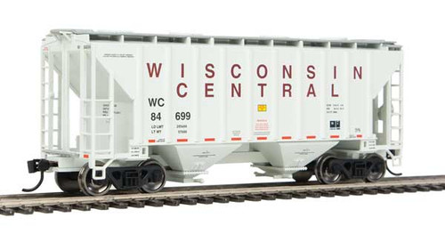 Walthers 910-7973 37' Covered Hopper WC - Wisconsin Central #84699 HO Scale