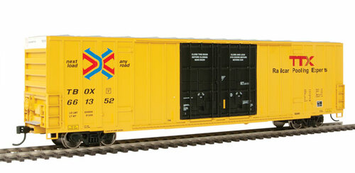 Walthers 910-2998 60' High Cube Plate F Boxcar TTX - TBOX #661352 HO Scale