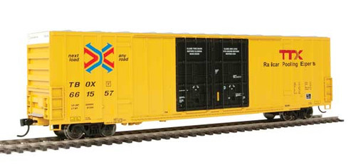Walthers 910-2999 60' High Cube Plate F Boxcar TTX - TBOX #661557 HO Scale