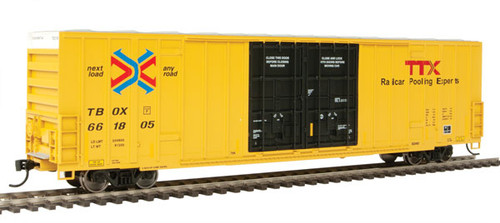 Walthers 910-3000 60' High Cube Plate F Boxcar TTX - TBOX #661805 HO Scale