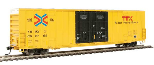 Walthers 910-3001 60' High Cube Plate F Boxcar TTX - TBOX #662166 HO Scale