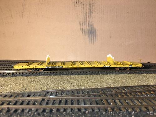 Scaletrains SXT32237 CW Custom Weathered BSC F68BH Finger Rack Flatcar TTJX - TTX #80421 HO Scale