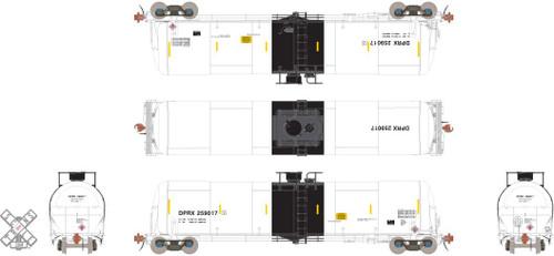 Scaletrains SXT31654 TrinityRail 31K Crude Oil Tank Car DPRX #259195 HO Scale