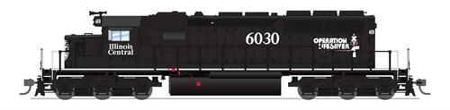 BLI 6786 SD40-2 IC - Illinois Central #6030 Broadway Limited Paragon 4 w/Sound & DCC HO Scale