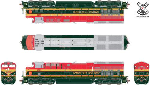 ScaleTrains SXT32651 Rivet Counter HO Scale GE ET44AC-T4 Tier 4 GEVO, Kansas City Southern/Belle (Run 5) #5017